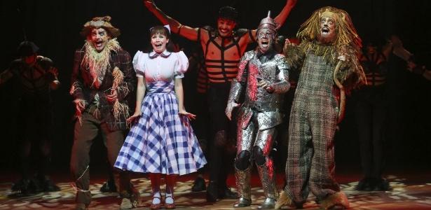 """Ensaio geral do musical """"O Magico de Oz"""", nova producao da dupla Charles Moeller e Claudio Botelho."""