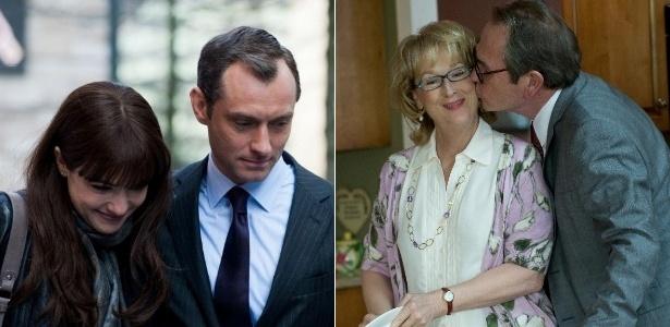 Os casais formados por Rachel Weisz e Jude Law e o de Meryl Streep e Tommy Lee Jones vivem histórias de amor nas estreias da semana, mas nem todas podem ter final feliz