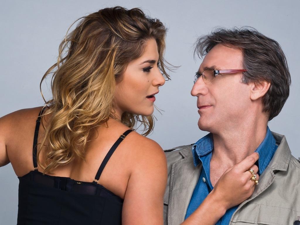 Herson Capri e Priscila Fantin na peça A Entrevista, de 16 de novembro a 16 de dezembro, no Teatro Vivo, em São Paulo.