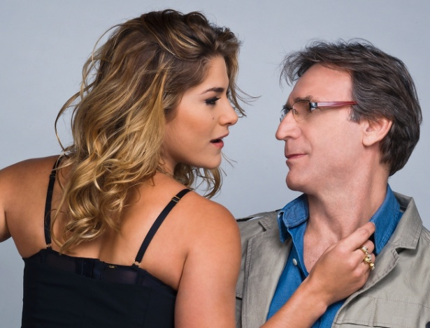 """Herson Capri e Priscila Fantin na peça """"A Entrevista"""", no Teatro Vivo, em São Paulo"""