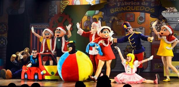 A Fábrica de Brinquedos do Papai Noel, em cartaz até 9 de dezembro, no Auditório do Ibirapuera