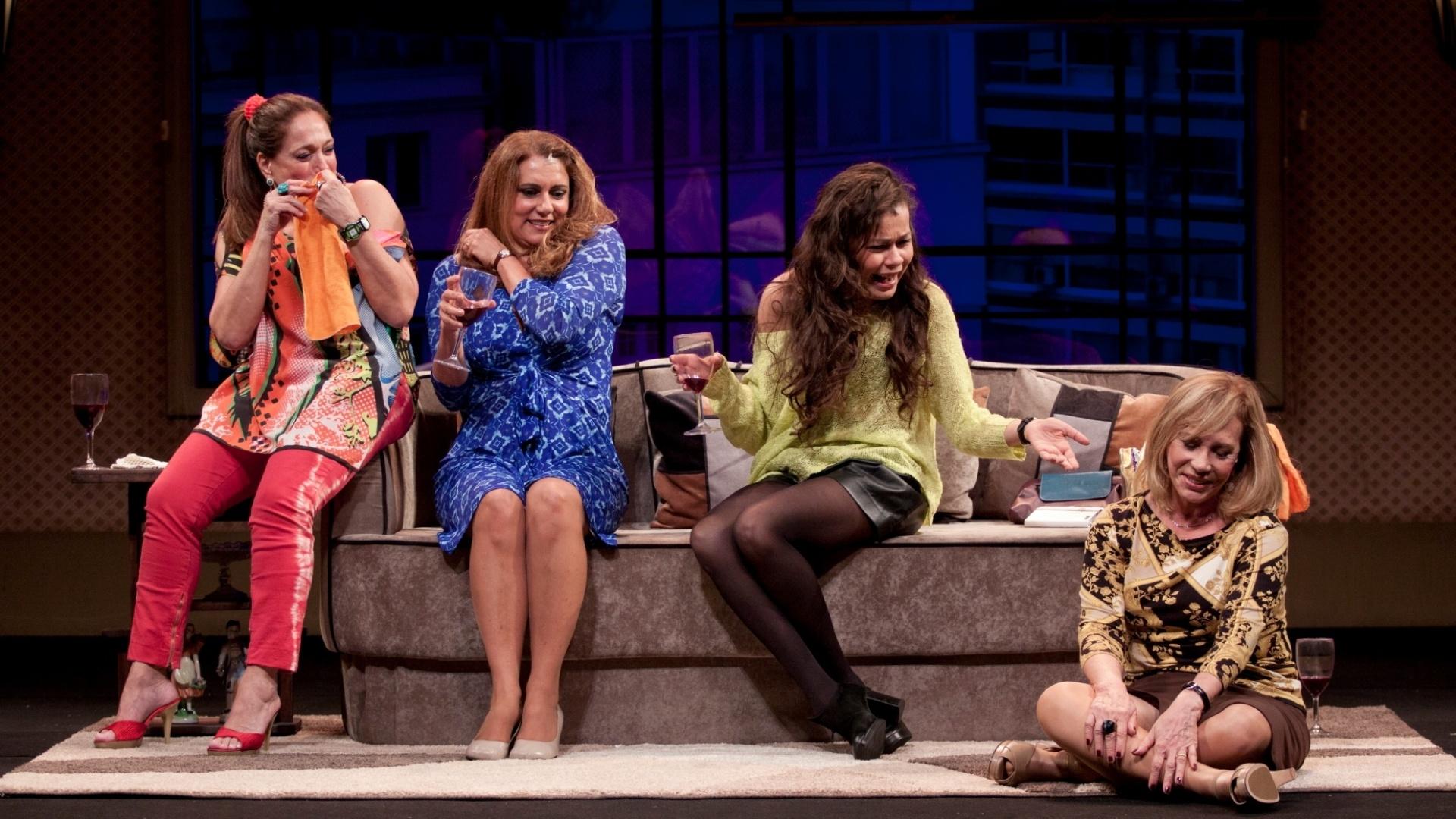 Susana Viera, Patrícya Travassos, Thereza Piffer e Arlete Salles na peça