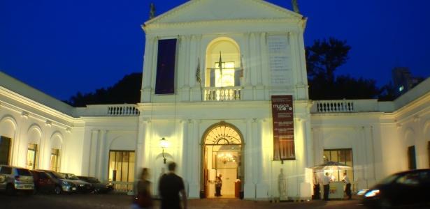 Fachada d Museu da Casa Brasileira, localizado na região da avenida Faria Lima, em São Paulo, que abre suas portas em horário expandido, quinzenalmente, para visitas noturnas e gratuitas até às 22h