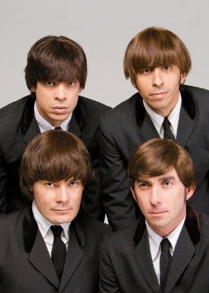 Integrantes do All You Need Is Love, banda cover latina dos Beatles, em imagem de divulgação