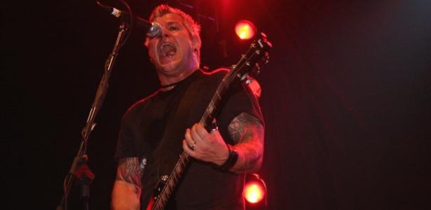 Billiy Graziadei, da banda Biohazard, durante show no Maquinaria Rock Fest, em 2008, em São Paulo