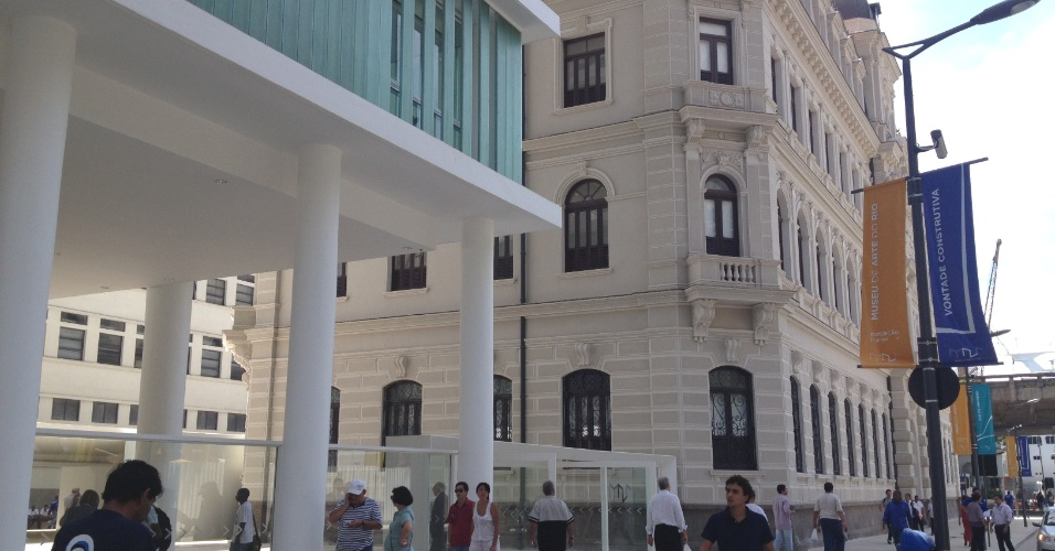Fachada do Museu de Arte do Rio (MAR) localizado na Praça Mauá
