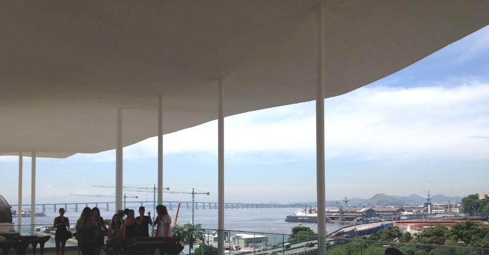 Vista do terraço do Museu de Arte do Rio (MAR)