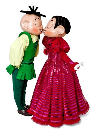 Mônica e Cebolinha estão em musical que tem apresentação em maio