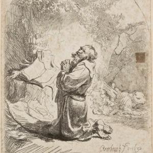 "Gravura ""A prece de São Jerônimo"", de Rembrandt - Rembrandt Harmenszoon van Rijn/Reprodução"