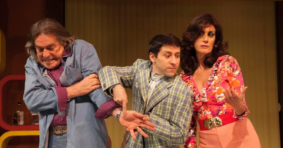 José de Abreu, Tadeu Mello e Márcia Cabrita na peça