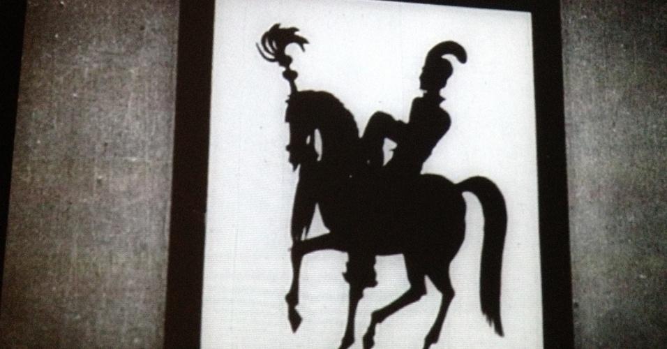 """Ilustração da história """"As Aventuras do Príncipe Achmed"""", de Lotte Reiniger, 1926"""