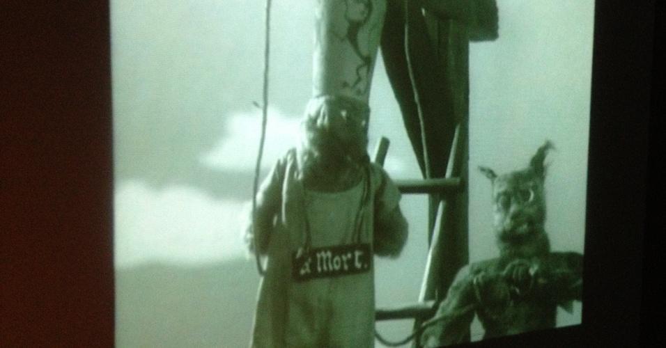 """Vídeo da animação """"O Conto da Raposa"""" (1929) feita por Ladislas Starewitch. Ele foi um animador de stop-motion polaco-lituano. Seus filmes combinavam live-action com animação de marionetes e uma parte de seu trabalho pode ser vista na exposição."""