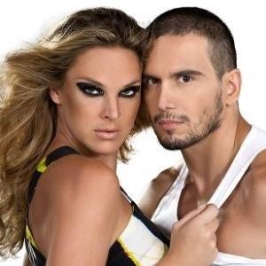 Letícia Birkheuer e Giuliano Candiago em imagem de divulgação da peça