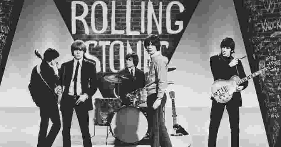 Rolling Stones em uma de suas muitas apresentações em programas de TV - Terry O'Neill/ Divulgação